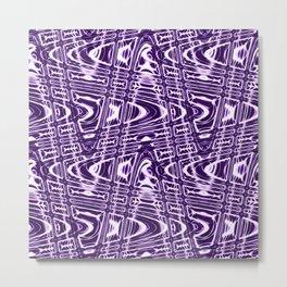 Purple and White Vibrations Metal Print