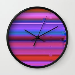 Glitch Strips Wall Clock