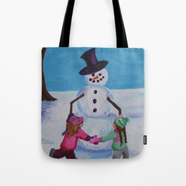 Snowman Play 3 Tote Bag