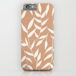 Foliage on Taupe iPhone Case