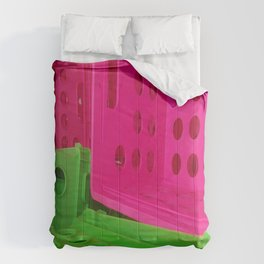 Crates in Pink and Green Comforters