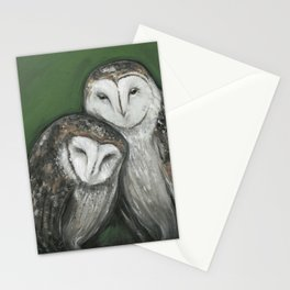 Soul Mates // Barn Owls Owl Bird Feather Wing Nature Love Animal Wild Nest Couple Marriage Family Stationery Cards