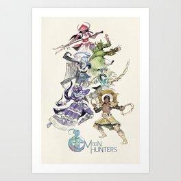 The Six Hunters Art Print