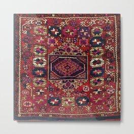 Karakecili Balikesir Antique Tribal Turkish Rug Metal Print