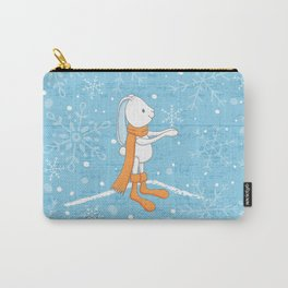 Bunny and Snowflakes Carry-All Pouch
