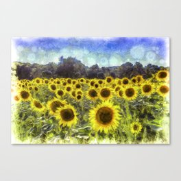 Sunflower Fields Of Dreams Van Goth Canvas Print