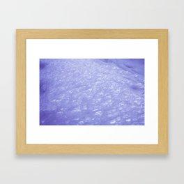 Glittery Ice Framed Art Print