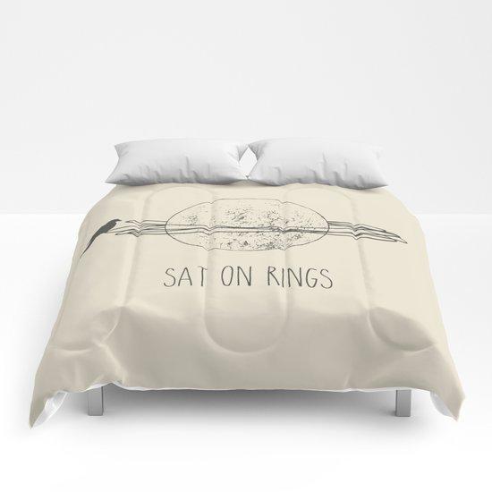 Sat On Rings Comforters