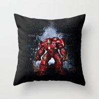 iron man Throw Pillows featuring IRON MAN iron man by alifart