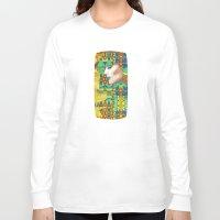 nouveau Long Sleeve T-shirts featuring Nouveau Girl by Steve W Schwartz Art