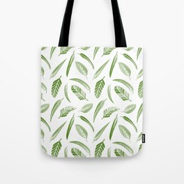 Leaf Pattern - Green Tote Bag