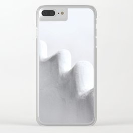 White and Minimal Clear iPhone Case