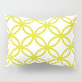 Interlocking Yellow Pillow Sham