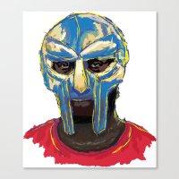 mf doom Canvas Prints featuring MF DOOM by foodpyramids