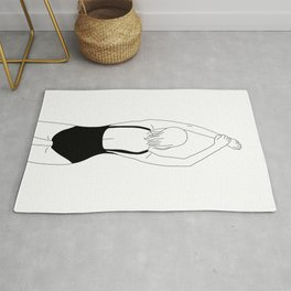 Woman in swimsuit line drawing - Alia Rug