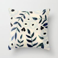 petals & vines Throw Pillow