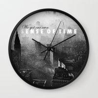 vampire weekend Wall Clocks featuring Hannah Hunt - Vampire Weekend by HUDSON DESIGNS