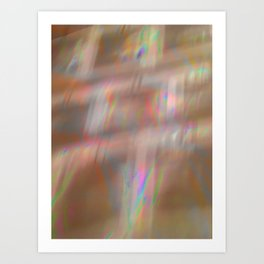 Holographic pattern Art Print