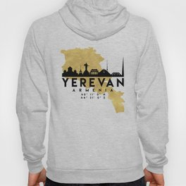 YEREVAN ARMENIA SILHOUETTE SKYLINE MAP ART Hoody