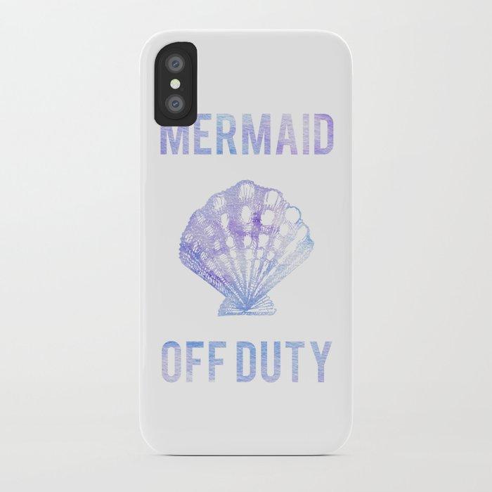 Mermaid Off Duty - Purple & Blue Seashell iPhone Case