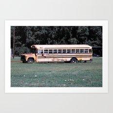 Bus Times Art Print