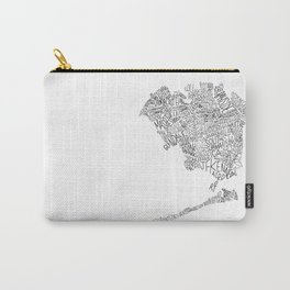 Queens - Hand Lettered Map Carry-All Pouch
