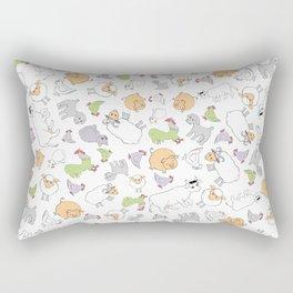 The Little Farm Animals Rectangular Pillow