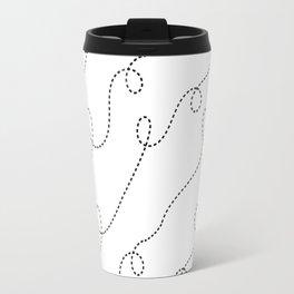Dashed Doodle Loops Travel Mug