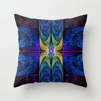 spiritual Throw Pillows featuring Spiritual One by Lyle Hatch