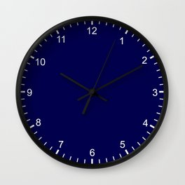 Simply Plain Marine Blue - Mix and Match with Simplicity of Life Wall Clock