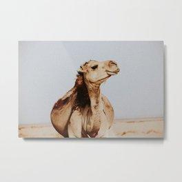 Happy Desert Camel Metal Print