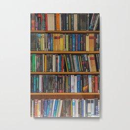 Bookshelf Books Library Bookworm Reading Pattern Metal Print