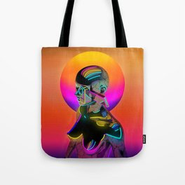 Android with a movie camera Tote Bag