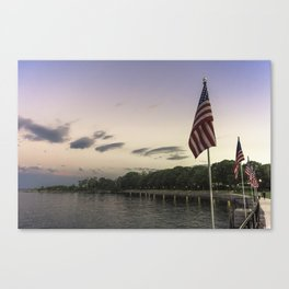 Boulevard summer sundown Canvas Print