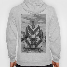 Chicago and North Western Diesel Electric ALCO Locomotive Train Engine 1689 Black and White Photography Hoody