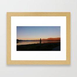 Sunset at Lake Tekapo Framed Art Print