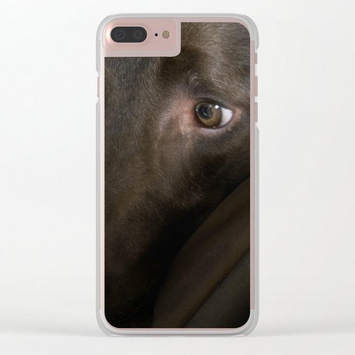 My Friend Chocolate Lab Clear iPhone Case