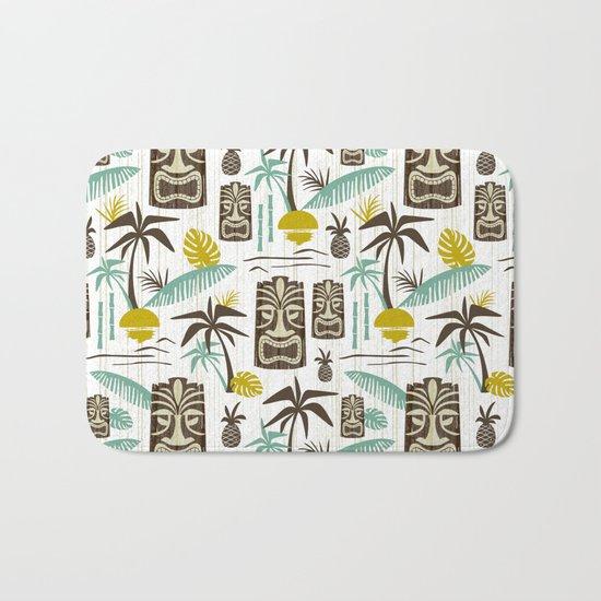 Island Tiki - White Bath Mat