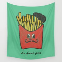 french Wall Tapestries featuring French Fries by Picomodi