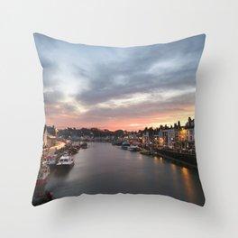 Harbour Sunrise Throw Pillow