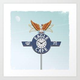 Eagle Café Art Print