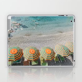 Umbrellas on the beach Laptop & iPad Skin