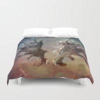 antlers Duvet Covers featuring Antlers by KesuOriesok
