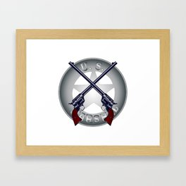 US Marshal Guns and Badge Framed Art Print