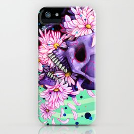 Pushing Up Daisies painting iPhone Case