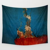 under the sea Wall Tapestries featuring Under The Mystic Sea by Bella Blue Photography