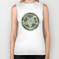 pentagram Biker Tanks featuring Pentagram Camo by Parin Cashmony