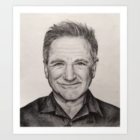 robin williams Art Prints featuring Robin Williams by Lindsay Hall
