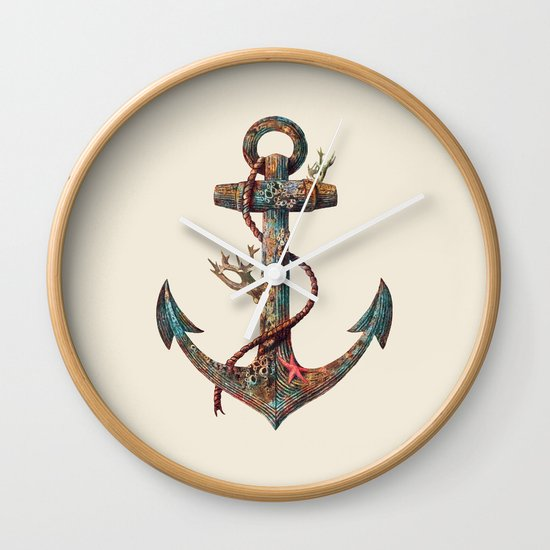 Lost at Sea - colour option Wall Clock