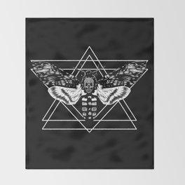 Death's Head Hawkmoth Throw Blanket